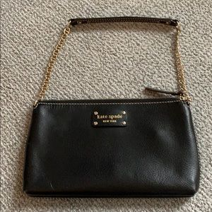 Black Kate Spade envelope bag